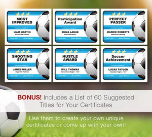Coaches Series — Soccer Certificates: Editable, Designer for Soccer Certificate Template Free 21 Ideas