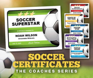 Coaches Series — Soccer Certificates: Editable, Designer with Soccer Certificate Template Free 21 Ideas