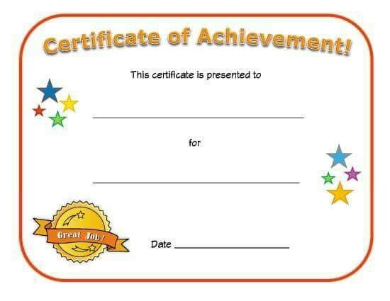 Collection Of Certificate For Kids As Award Certificate pertaining to Classroom Certificates Templates