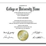 College Graduation Certificate Template (5) - Templates intended for Best College Graduation Certificate Template