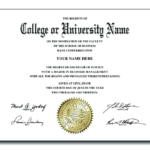 College Graduation Certificate Template (5) – Templates Pertaining To Best University Graduation Certificate Template