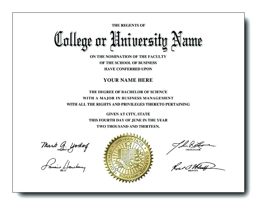 College Graduation Certificate Template (5) - Templates pertaining to Best University Graduation Certificate Template
