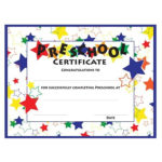 Color Craze Stars Preschool Certificates, 30/Pkg With Quality Pre Kindergarten Diplomas Templates Printable Free