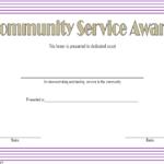 Community Service Award Certificate Template Free 2 With Regard To Community Service Certificate Template Free Ideas