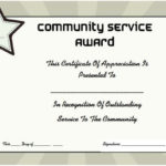Community Service Certificate Of Appreciation   Certificate For Community Service Certificate Template Free Ideas