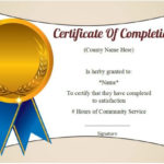 Community Service Certificate Of Completion: 10 Ready Made Pertaining To Community Service Certificate Template Free Ideas