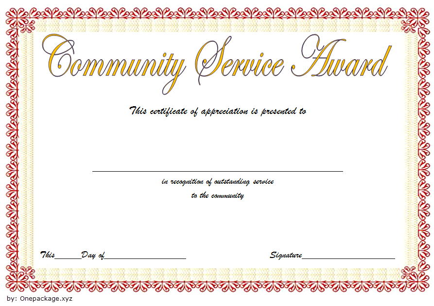 Community Service Certificate Template Free: 12+ Best Ideas regarding Community Service Certificate Template Free Ideas