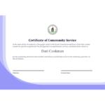 Community Service Certificate Template – Pdf Templates   Jotform Pertaining To Community Service Certificate Template Free Ideas