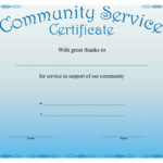Community Service Certificate Template With This Certificate Within Community Service Certificate Template Free Ideas