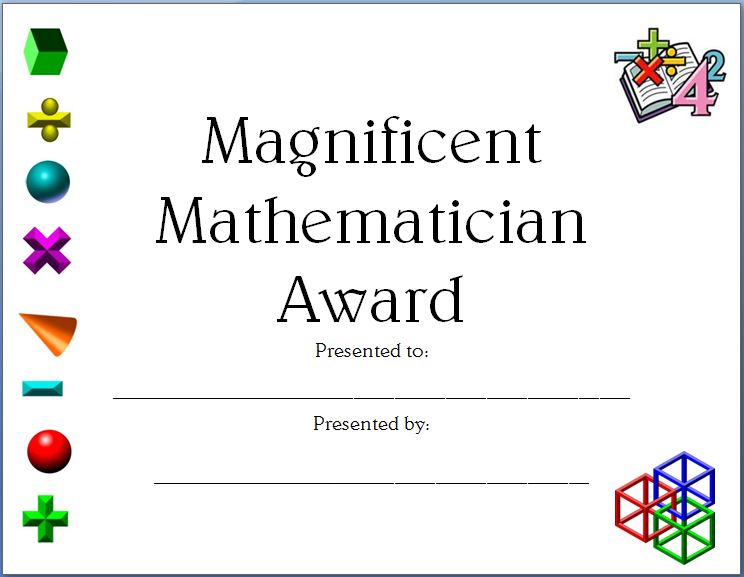 Completely Editable Math Certificate For Elementary And Within Job Well Done Certificate Template 8 Funny Concepts