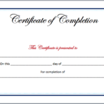 Completion Certificate Template – Microsoft Word Templates Pertaining To Free Completion Certificate Templates For Word