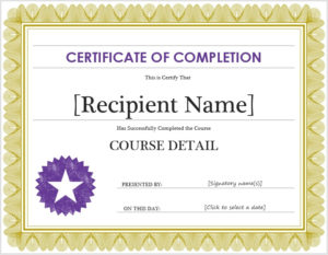 Completion Certificate Templates – 10 Free Sample Templates with Free Training Completion Certificate Templates