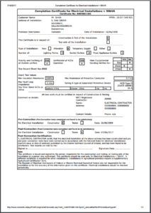 Completion Certificates – Safe Electric pertaining to Best Electrical Installation Test Certificate Template
