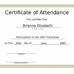 Conference Certificate Of Attendance – Edit, Fill, Sign Inside Fresh Certificate Of Attendance Conference Template
