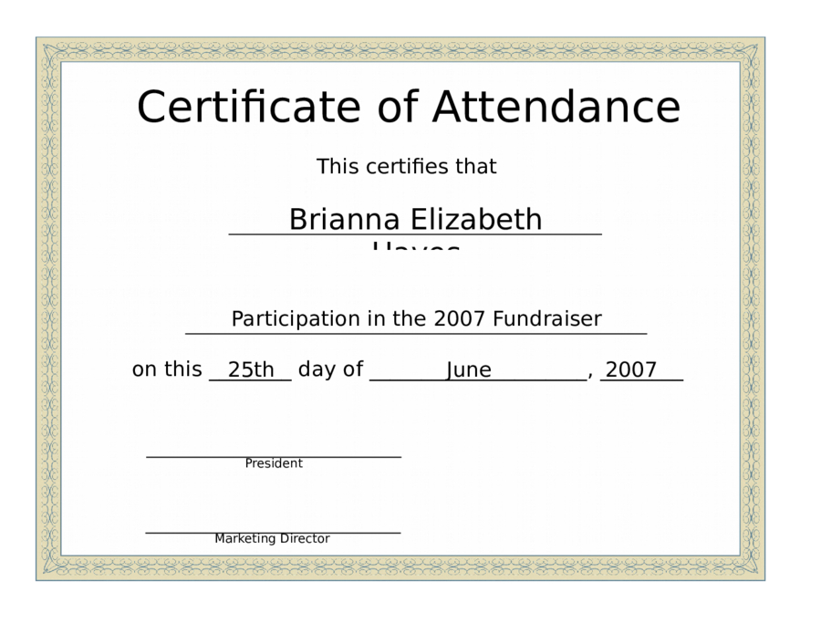 Conference Certificate Of Attendance - Edit, Fill, Sign throughout New Conference Certificate Of Attendance Template