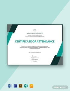 Conference Certificate Of Attendance Template (7 inside New Conference Certificate Of Attendance Template