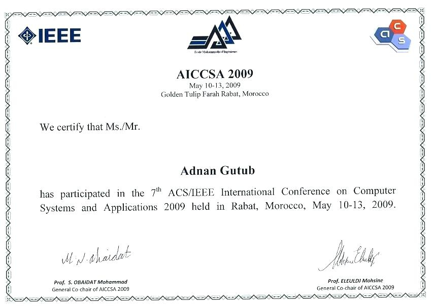 Conference Certificate Of Attendance Template (8 with International Conference Certificate Templates