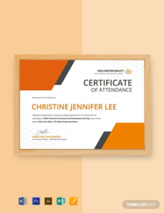 Conference Certificate Of Attendance Template (9 inside New Conference Certificate Of Attendance Template