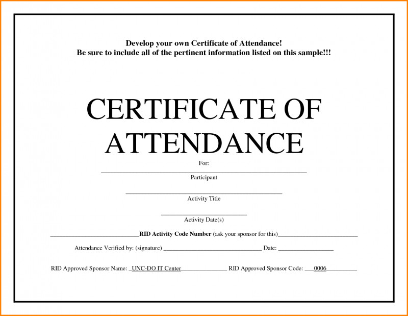 Conference Certificate Of Attendance Template Awesome with regard to Certificate Of Attendance Conference Template