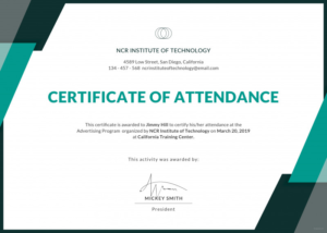 Conference Certificate Of Attendance Template Awesome within Conference Certificate Of Attendance Template
