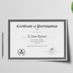 Conference Participation Certificate Template (1 In Quality Conference Participation Certificate Template
