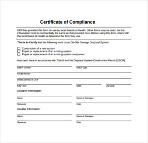 Conformity Certificate Templates – 10 Free Sample Templates intended for Certificate Of Conformance Template Free