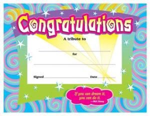 Congratulations Award, T-2954 | Certificate Of Achievement inside Fresh Congratulations Certificate Templates