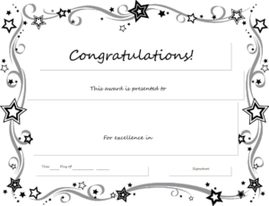 Congratulations Certificate Word Template Erieairfair With in Congratulations Certificate Template 10 Awards