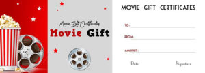 Contoh Soal Jurnal Penyesuaian: Movie Gift Card Template with Movie Gift Certificate Template