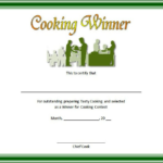Cooking Competition Certificate Template Free For Winner 1 regarding New Cooking Contest Winner Certificate Templates