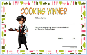 Cooking Competition Certificate Template Free For Winner 3 pertaining to Best Certificate Of Cooking 7 Template Choices Free