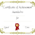 Copy 8 Of Certificate Of Achievement (960×720 With Regard To Free Printable Certificate Of Achievement Template