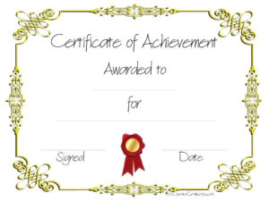 Copy-8-Of-Certificate-Of-Achievement (960×720 within Weight Loss Certificate Template Free 8 Ideas