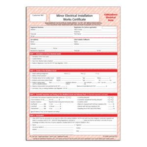 Corgidirect Minor Electrical Works Certificate – Cp22 intended for Electrical Minor Works Certificate Template