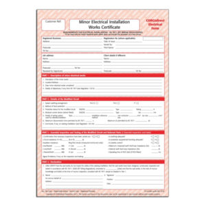 Corgidirect Minor Electrical Works Certificate – Cp22 pertaining to Unique Minor Electrical Installation Works Certificate Template