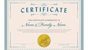 Corporate Share Certificate Template Awesome Necessary Parts in Sobriety Certificate Template 10 Fresh Ideas Free
