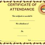 Course Attendance Certificate Template : 10+Editable Word Regarding Attendance Certificate Template Word