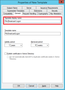 Create A Smartcard Logon Certificate Template within Fresh Active Directory Certificate Templates