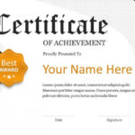 Creative Certificate Template | Free Powerpoint Template Inside Best Award Certificate Template Powerpoint