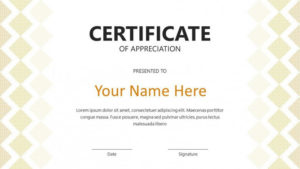 Creative Certificate Template | Free Powerpoint Template Throughout Best Award Certificate Template Powerpoint