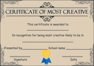 Creative Most Likely To Award | Most Likely To Awards, Award in Most Likely To Certificate Template Free