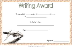 Creative Writing Award Certificate Template Free 1 | Awards within Handwriting Award Certificate Printable
