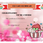 Cup Cake War Winner Certificate   Cake Competition, Cupcake Within Bake Off Certificate Template