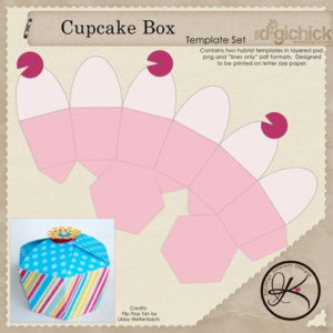 Cupcake Box Template Free Download More At Recipins for Cupcake Certificate Template Free 7 Sweet Designs