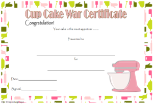 Cupcake Wars Certificate Free Printable 1 | Certificate throughout Certificate For Baking 7 Extraordinary Concepts
