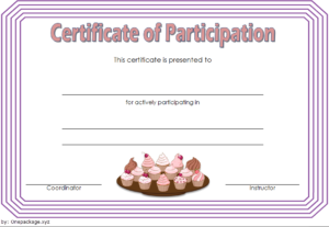 Cupcake Wars Certificate Of Participation Free 2   Cupcake pertaining to Quality Cupcake Certificate Template Free 7 Sweet Designs