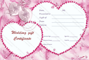 Cupid'S Pink Gift Certificate Template intended for Best Pink Gift Certificate Template