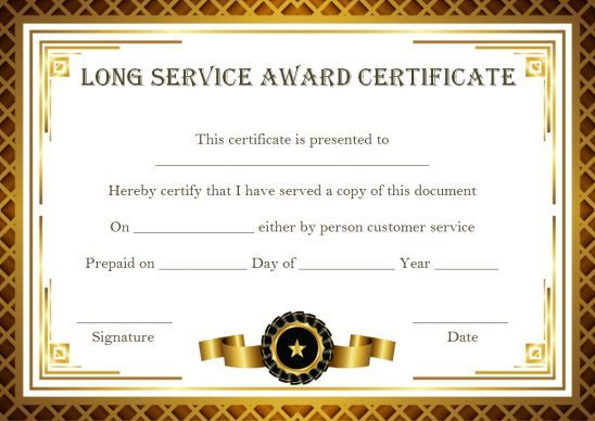 Customer Service Award Certificate: 10 Templates That Give for Quality Merit Certificate Templates Free 10 Award Ideas