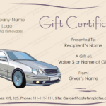 Customizable-Motor-Car-Gift-Certificate-Template with Automotive Gift Certificate Template