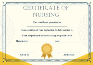 Customize 10 Nursing Certificate Of Appreciation Templates pertaining to Best Travel Certificates 10 Template Designs 2019 Free